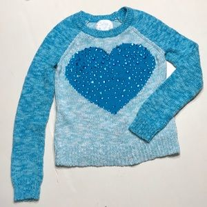 Girl's JUSTICE blue sweater, size 10
